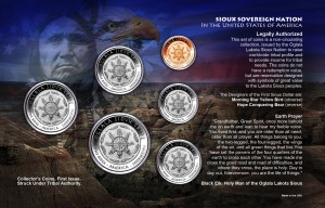 1-SIOUX 6 COIN SET BACK