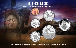1-SIOUX 6 COIN SET FRONT